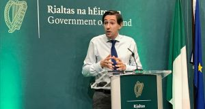 Minister for Health Simon Harris at the publication of the Sláintecare implementation strategy: the plan will involve a significant cultural change in healthcare delivery in Ireland. Photograph: Aoife Moore/PA