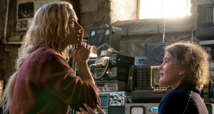 Emily Blunt and Millicent Simmonds in the horror blockbuster A Quiet Place, from Paramount Pictures. Photograph: Jonny Cournoyer