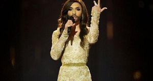 Conchita Wurst won the Eurovision for Austria in 2014. Photograph: Ragnar Singsaas/Getty Images