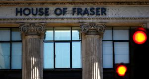 House of Fraser: rescued from collapse on Friday morning by  Mike Ashley in a deal worth £90 million.