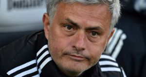 Jose Mourinho: distinctly underwhelmed by Manchester United's lack of action in the transfer market this summer. Photograph: Glyn Kirk/AFP/Getty Images