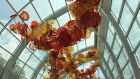 The centrepiece of Chihuly Garden and Glass is the enormous glass conservatory, featuring a 100ft-long glass sculpture.