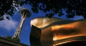 The Space Needle and the Museum of Popular Culture are a few minutes' walk apart.