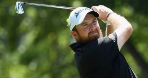 Shane Lowry plays his shot from the 11th tee during the second round of the 2018 PGA Championship at Bellerive Country Club in St Louis, Missouri. Photo: Ross Kinnaird/Getty Images