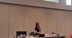 Síona Cahill, president of the USI, speaks at the Emerging Ireland summer school.