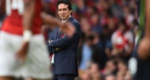 Nice guy? Arsenal's Spanish head coach Unai Emery during the match against Manchester City at the Emirates. Photograph: Glyn Kirk/AFP/Getty Images