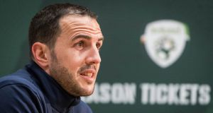 John O'Shea pictured at a press conference last year. File photograph: INPHO/Ryan Byrne