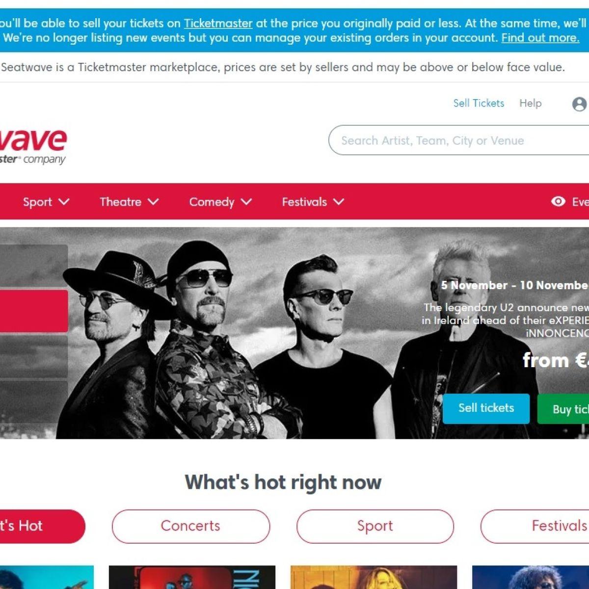Ticketmaster to shut ticket-reselling website Seatwave