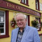 Author Hugh Oram outside the Old Punch Bowl pub in  Booterstown. Photograph: Nick Bradshaw