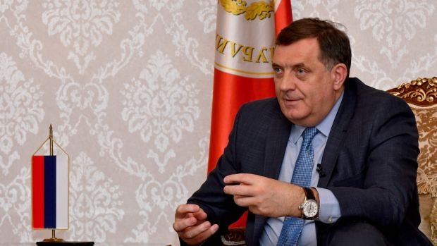 Bosnian Serb leader Milorad Dodik has refused to accept migrants in his region and called their arrival part of a conspiracy to boost the country's Muslim population. Photograph: Elvis Barukcic/AFP/Getty Images