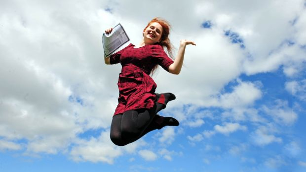 Lucy Prendeville of Tullamore, Co Offaly, who got eight A1s in the Leaving Cert in 2015. Photograph: James Flynn/APX