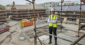 Peter Collins of Kennedy Wilson photographed at its development at Clancy Quay in Dublin in 2016. Photograph: Brenda Fitzsimons / THE IRISH TIMES