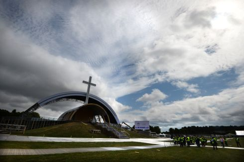 More than 1,000 doctors, nurses and paramedics will be stationed at 1.5 km intervals on all routes to the Papal Cross. Photograph: Dara MacDonaill/ The Irish Times