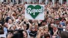 Sipo Act did not silence campaigners to repeal the Eighth Amendment: they raised €500,000 in a week while complying with the law. Photograph: Gareth Chaney Collins