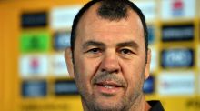 Australia coach Michael Cheika: has blooded some 30 players in the Test arena since the 2015 global showpiece. Photograph: Saeed Khan/AFP/Getty Images