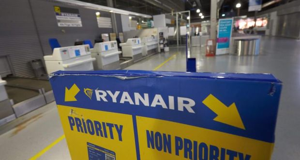 The pilots' union has also warned that a threat of redundancies at Ryanair's Dublin Airport base has complicated the dispute. Photograph: Thomas Frey/AFP/Getty Images