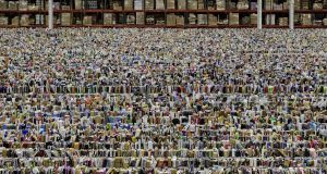 Andreas Gursky homes in on chromatic and pictorial patterns to graphic effect such as this image of an Amazon warehouse.