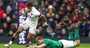 England's Anthony Watson in action against Ireland earlier this year. Photograph: James Crombie/Inpho