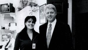 White House scandal: Monica Lewinsky with President Bill Clinton in the 1990s