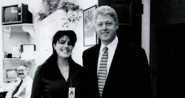 9a50b53b7c7b White House scandal  Monica Lewinsky with President Bill Clinton in the  1990s