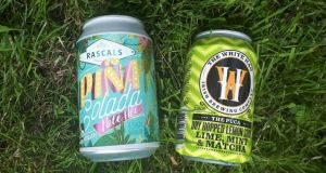 Rascals pina colada pale ale and White Hag dry-hopped lemon sour beer