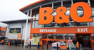 B&Q said it was on track to deliver on its targets for this year. Photograph:  Paul Faith/PA Wire