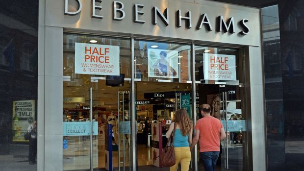 Debenhams store at Henry street, Dublin. Photograph: Eric Luke/The Irish Times