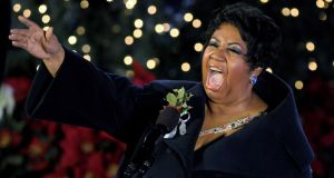 Aretha Franklin pictured in 2009. Photograph: Peter Foley/EPA