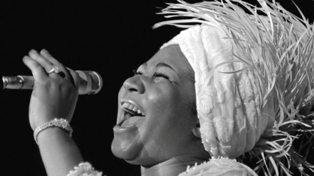 Aretha Franklin opens at Caesars Palace in Las Vegas, Nevada, 1969. Photgraph: Reuters
