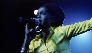Lauryn Hill performing at Brixton Academy, London in 1999. Photograph:  Chris Lopez/Sony Music Archive/Getty Images
