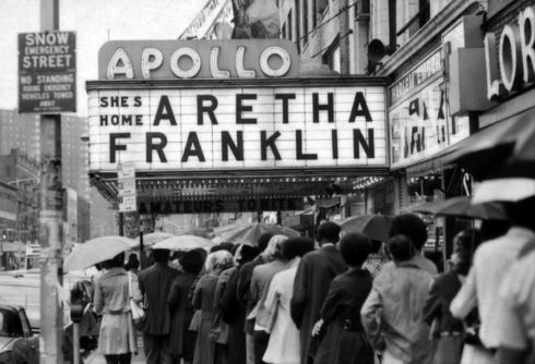Fans line up for a concert by Aretha Franklin at the Apollo Theatre in New York on June 3rd, 1971. Photograph: Tyrone Dukes/The New York Times