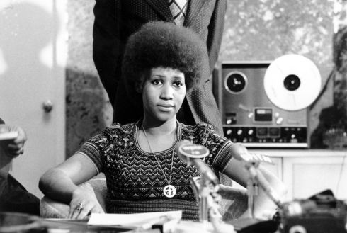 Aretha Franklin appears at a news conference on March 26th, 1973. Photograph: AP Photo