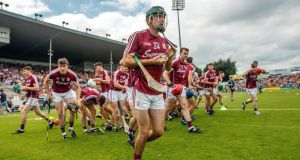 Galway are strong mentally. They have built up an armoury of resilience, winning all three comp-etitions last year and adding Leinster this year. Photograph: James Crombie/Inpho