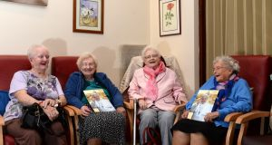 Kathleen Quinn, Nan White, Margaret Foley and Bridie Byrne, at Our Lady of Lourdes Day Care Centre on Sean McDermott Street, Dublin. Photograph: Dara Mac Dónaill/The Irish Times