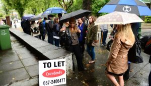Queuing for a rental property in Dublin. Photograph: Bryan O'Brien