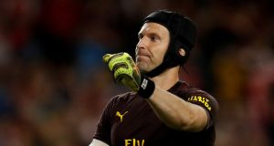 Arsenal's Petr Cech: he is expected to keep his place  against Chelsea