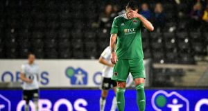Cork's Damien Delaney  during his team's defeat at the Lerkendal Stadion. Photograph: Ole Martin Wold/Inpho