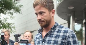 Danny Cipriani leaves Jersey Magistrates' Court, Saint Helier, on Thursday. Photograph: Yui Mok/PA
