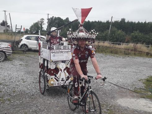 Joseph Oliver Coleman, one of many people cycling to Croke Park in a bid to raise money for three charities - Pieta House, Cancer Research and Alzheimer's Society of Ireland. Photograph: Joseph Oliver Coleman