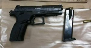 One of the guns seized by gardaí in Ballyfermot on Thursday. Photograph: via Garda Facebook page