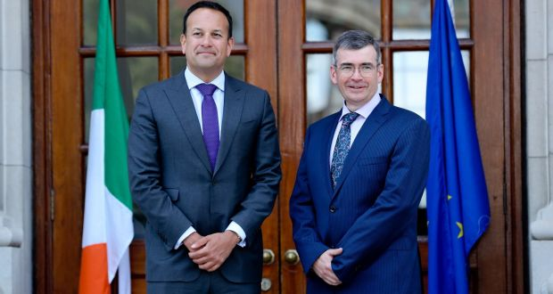 Taoiseach Leo Varadkar and new Garda commissioner                   Drew Harris at Government buildings in June.                   Photograph: Maxwell