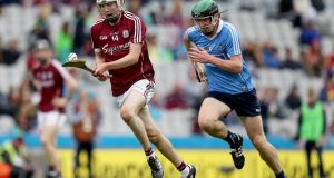 Galway's Donal O'Shea: the full forward,  son of former Tipperary manager Eamon, hit 12 points, all from placed balls, in the semi-final win over Dublin. Photograph: Tommy Dickson/Inpho