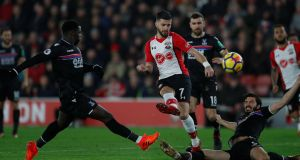 Shane Long: appears to have slipped down the pecking order at Southampton following the deadline-day signing of striker Danny Ings. Photograph: Peter Cziborra/Reuters