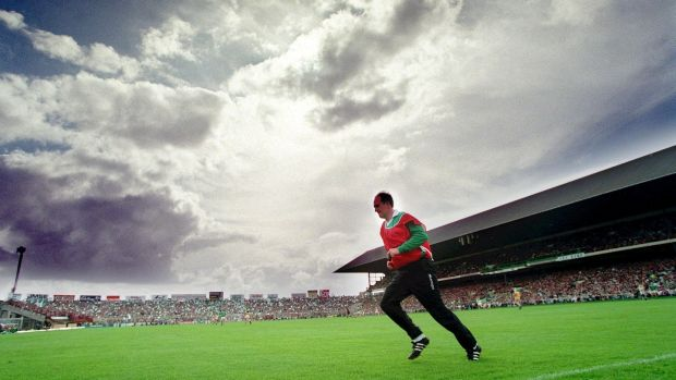 "Offaly manager Eamonn Cregan in 1994 on All-Ireland final day when his team defeated Limerick. ""It was difficult and to an extent, still is."" Photograph: Tom Honan/Inpho"