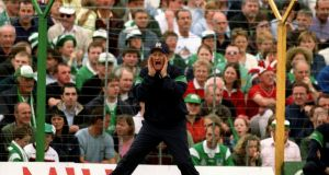 Eamon Cregan on the sideline as Limerick manager in 2000-. Photograph: Patrick Bolger/Inpho