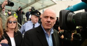 David Drumm outside the Criminal Court in Dublin. Photograph: Cyril Byrne