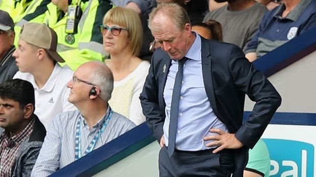 QPR manager Steve McClaren looks dejected during the Sky Bet Championship match against West Brom at The Hawthorns. Photograph: David Rogers/Getty Images