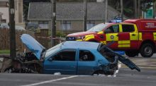 The scene of the fatal car crash in Bundoran. Photograph: North West Newspix.