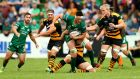 Connacht's James Connolly carries against Wasps. Photograph: James Crombie/Inpho
