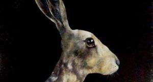 Detail from 'Hare' by Heidi Wickham. Photograph: Russell Gallery